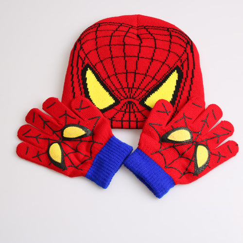 Spider-Man Children Hat and Gloves Set