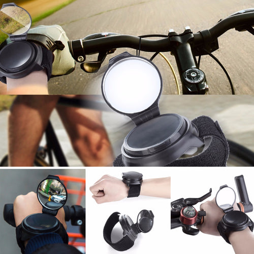 28% OFF - 360 Degree Rotating Safety Rear Watching Mirror Wristband