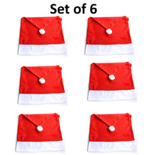 25% OFF - LIMITED TIME OFFER - Santa Clause Red Hat Chair Covers - 4 or 6 Pcs Set