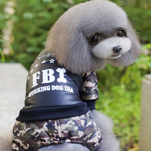 Small Dog FBI Suit
