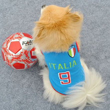 Soccer Team Colours Tank Top for Small Dog