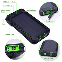 3 in 1 Power Bank - Solar External Battery, Electric Cigarette Lighter and Dual Light
