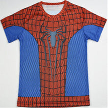 Kid's Superhero Fitness Compression Short Sleeve Shirt - Spider-Man