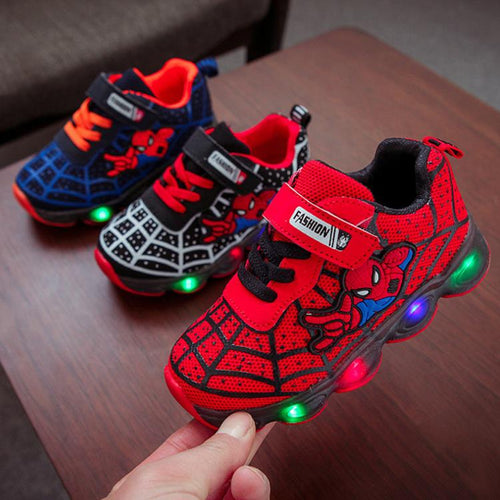 33% OFF - LIMITED TIME OFFER - Spider-Man LED Lights Running Shoes - Toddler and Children Sizes