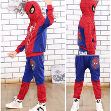 Spider Design Cotton Sweater with Mask Hoodie and Pants - 2pcs set