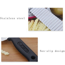 25% OFF - LIMITED TIME OFFER - Stainless Steel Wavy Crinkle Shape Kitchen Knife