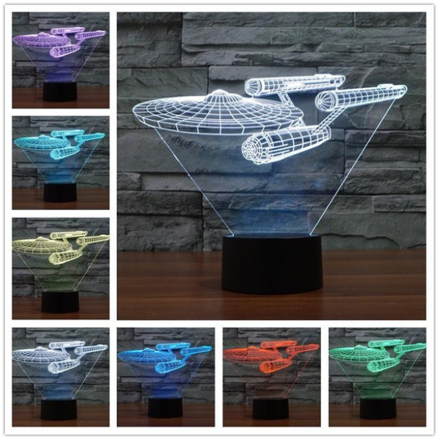 Star Trek Enterprise 3D LED Multicolored Lamp