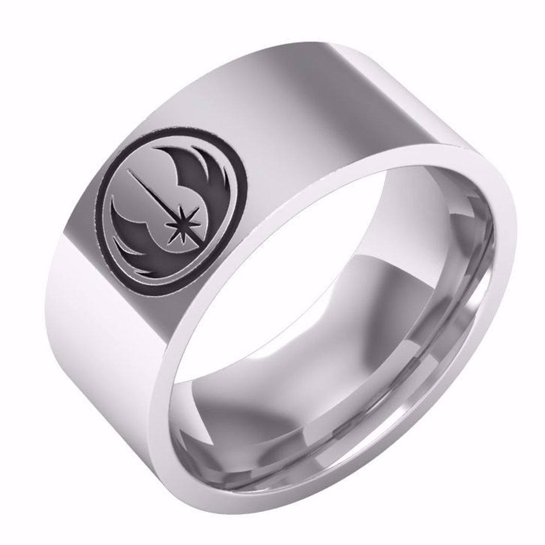 Star Wars Engraved Jedi Symbol Stainless Steel Ring My Screen