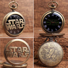 Star Wars Bronze Name Logo Pocket Watch