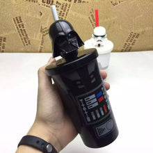 13% OFF - LIMiTED TIME OFFER - Star Wars Reusable Plastic Cup With Lid and Straw