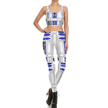 Star Wars R2-D2 Women Fitness 2-Pces Set - Leggings and Top