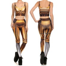 Star Wars C-3PO Women Fitness 2-Pces Set - Leggings and Top
