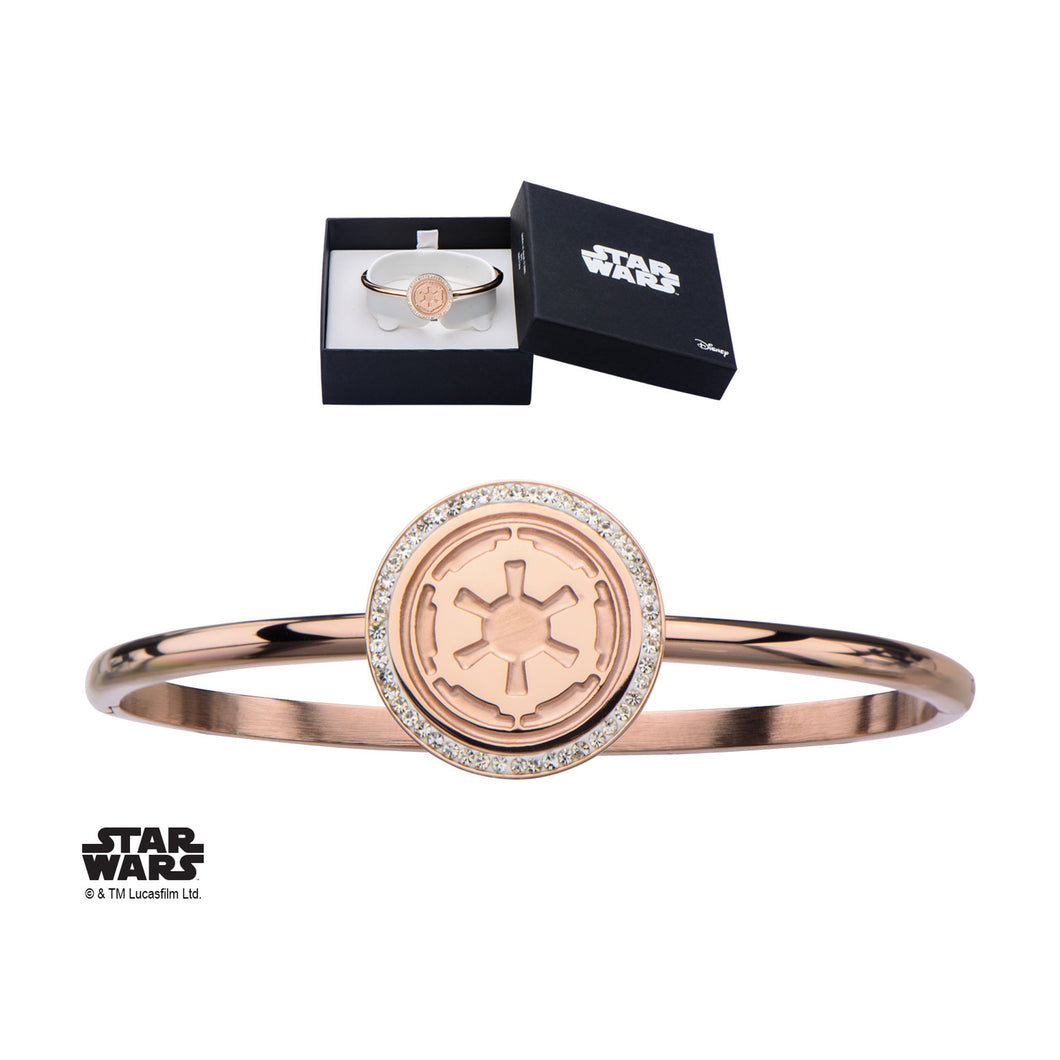 Star Wars Womens Stainless Steel Rose Gold Pvd Plated Galactic