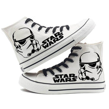 Star Wars Ankle-High Lace-Up Canvas Sneakers