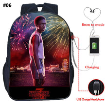 22% OFF - LIMITED TIME OFFER - Stranger Things Teenager USB Character Backpack