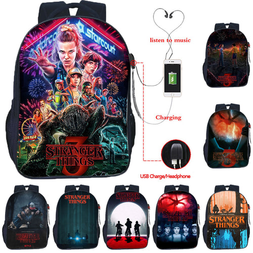 22% OFF - LIMITED TIME OFFER - Stranger Things Teenager USB Backpack