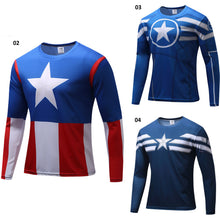 Captain America Long Sleeve Compression Shirt - 3 Models