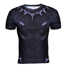 Black Panther Fitness Compression Short Sleeve Shirt