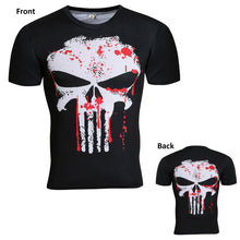 Punisher Double Sided Fitness Compression Short Sleeve Shirt
