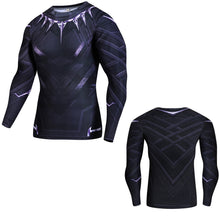 Black Panther Fitness Compression Long Sleeve Shirt