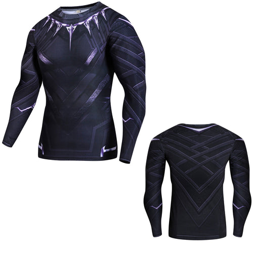 33% OFF - LIMITED TIME OFFER - Black Panther Fitness Compression Long Sleeve Shirt