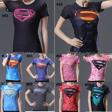 Supergirl Woman Compression Short Sleeve Shirt