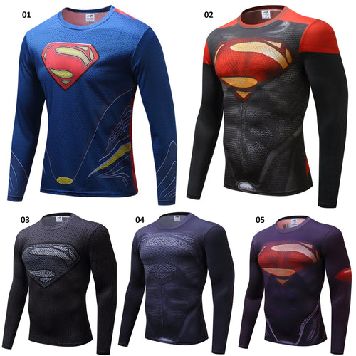 Superman Long Sleeve Compression Shirt - 5 Models