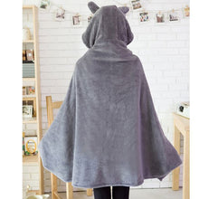 28% OFF LIMITED TIME OFFER - Totoro Hooded Fleece Shawl Cape