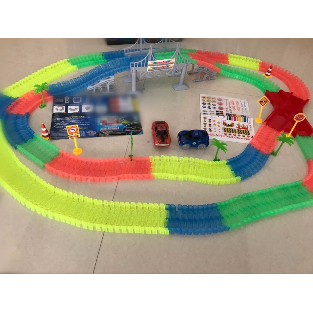 Magic Tracks Bend Flex, Glow in the Dark Car -360 Pcs