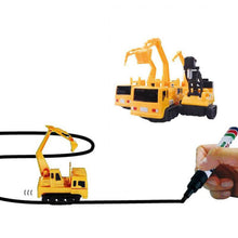 "Magic Inductive Excavator ""Follows the Line you Draw"""