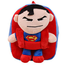 28% OFF - LIMITED TIME OFFER - Superhero Plush Backpack with Detachable Toy - Spiderman, Captain America, Batman, Superman