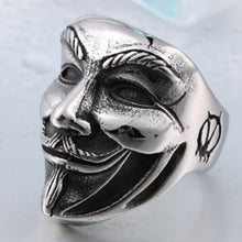 Anonymous - V for Vendetta, Guy Fawkes Mask Ring