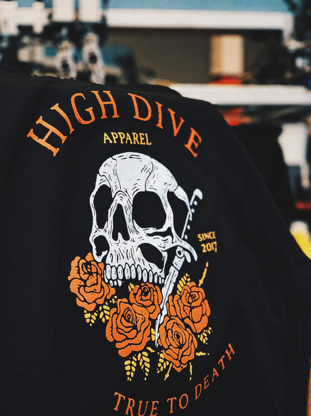 True to Death - Hoody - High Dive Apparel