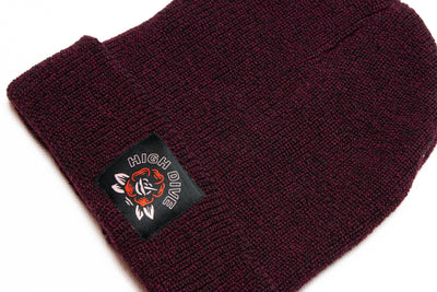 Ol' Rosey Antique Burgundy Beanie