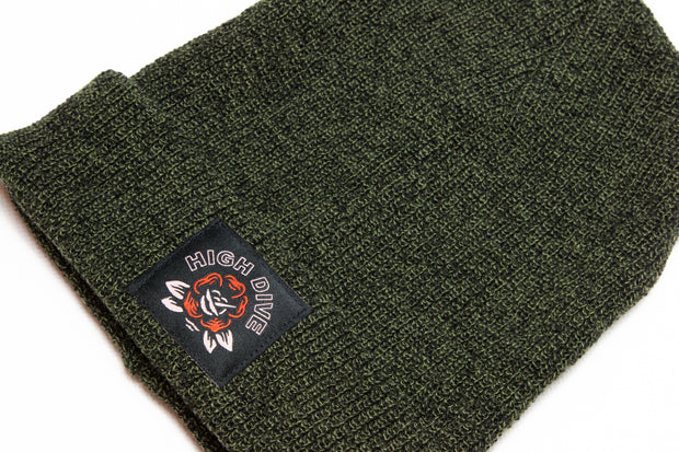 Ol' Rosey Antique Moss Green Beanie