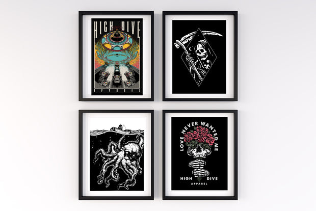 Set of 4 A4 Prints
