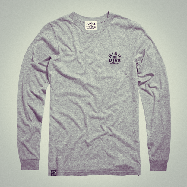 Embroidered LTD Edition Long Sleeve Grey