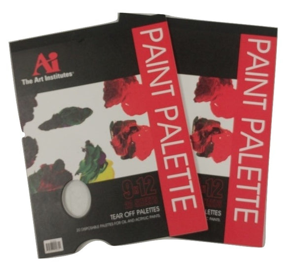 The Art Institute Bulk Disposable Paint Pallete Paper - 8, 24, or 48 Pads - 20 Sheets Each Pad