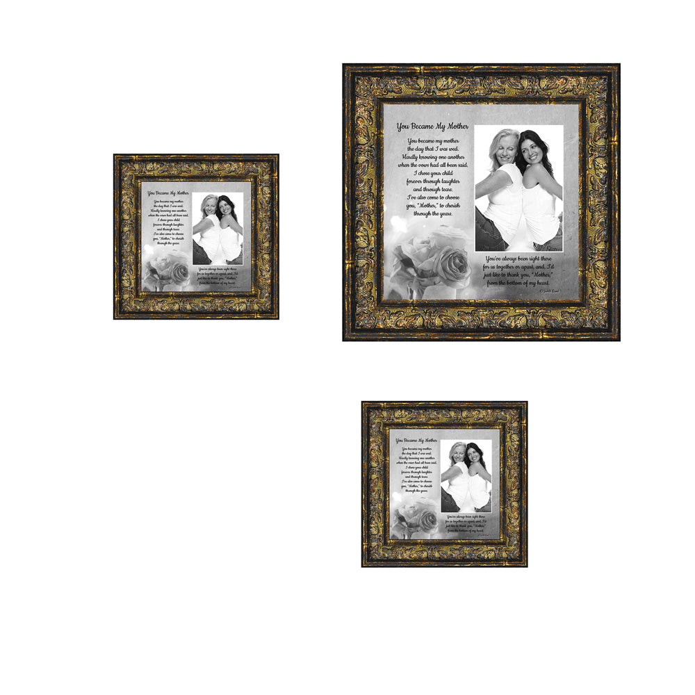 Picture Frame Set, 3 Piece Customizable Multi pack, 1-8x8, 2-4x4, for Instagram Photo Wall Gallery or Tabletop Display