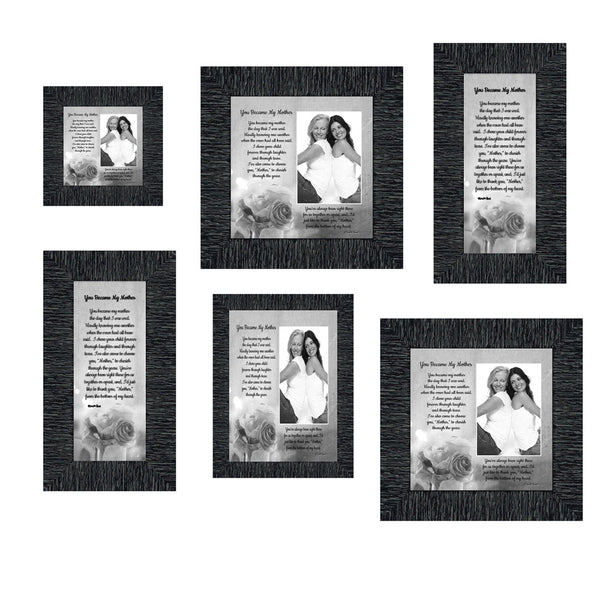 Picture Frame Set, 6 Piece Customizable Gallery Multi pack, 2-8x8, 2-4x10, 1-4x4, 1-5x7 for Tabletop or Wall Display