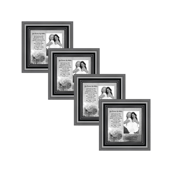 Picture Frame Set, 4 Piece Customizable Multi pack, 4-4x4, for Instagram Photo Wall Gallery or Tabletop Display