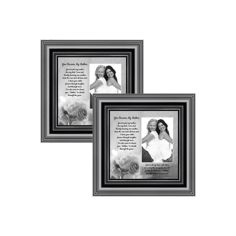 Picture Frame Set, 2 Piece Customizable Multi pack, 2-4x4, for Instagram Photo Wall Gallery or Tabletop Display