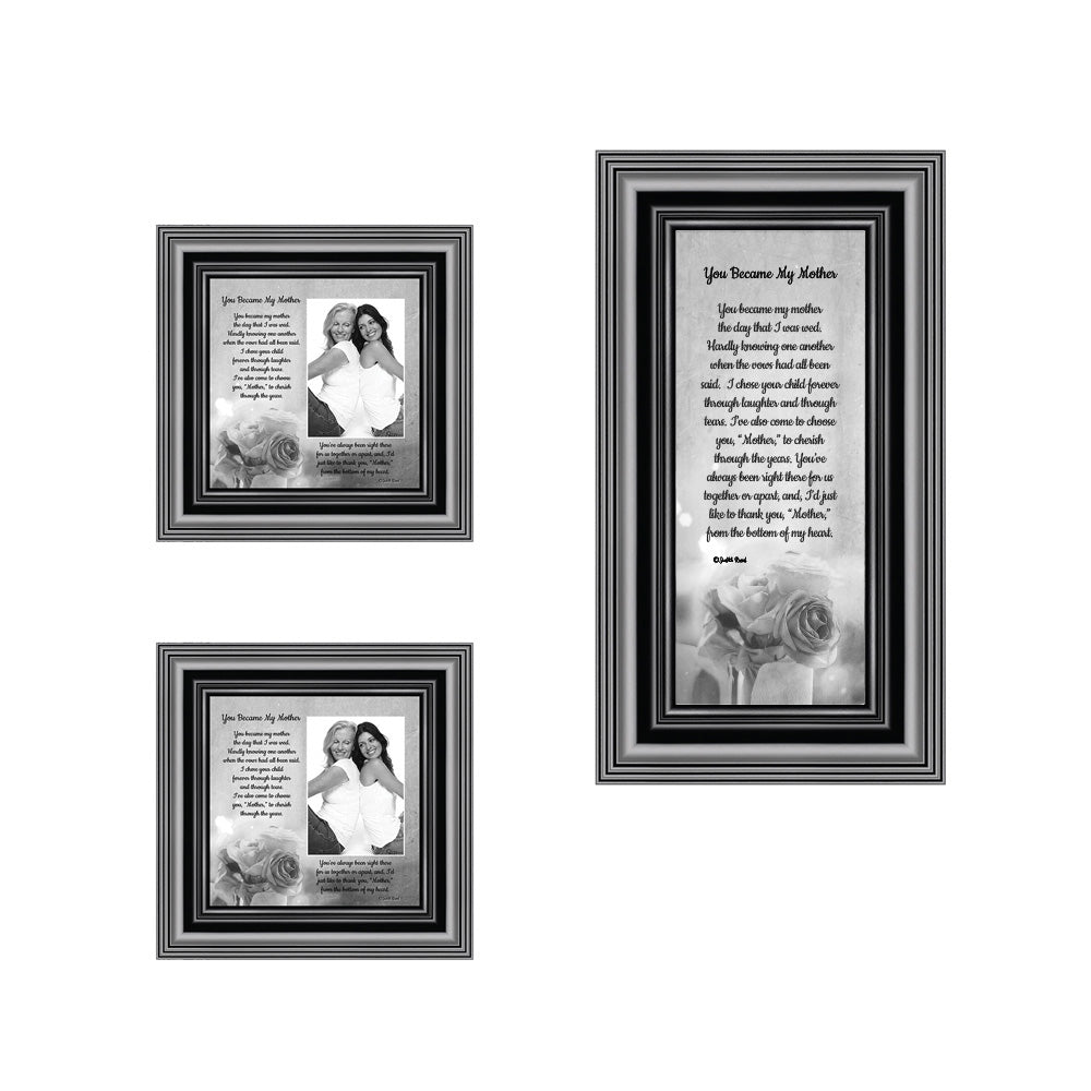 Picture Frame Set, 3 Piece Customizable Multi pack, 1-4x10, 2-4x4, for Instagram Photo Wall Gallery or Tabletop Display