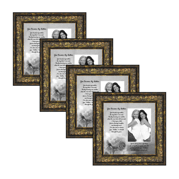 Picture Frame Set, 4 Piece Customizable Gallery Multi pack, 4-8x8, for Tabletop or Wall Display