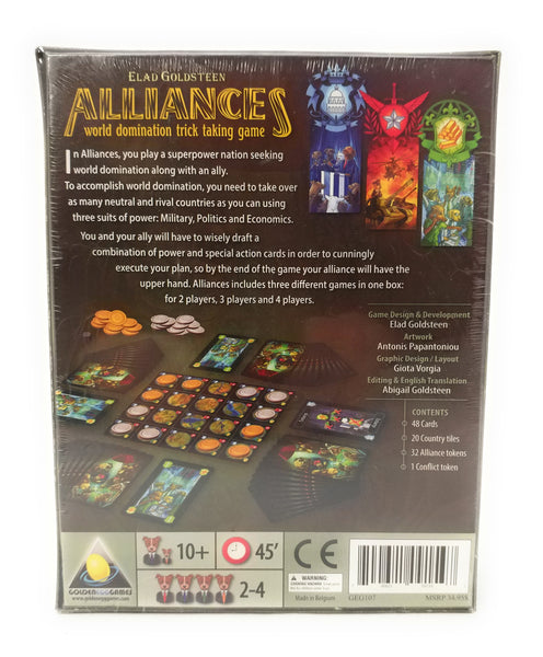 Golden Egg Games Alliances-World Domination Trick-Taking Game