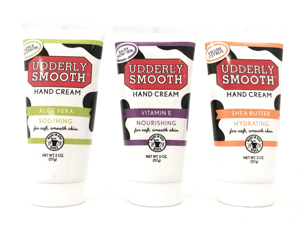Udderly Smooth Hydrating Hand Cream Variety Pack (1 of each scent), 2 oz. Travel Size Lotion - 3 Pack