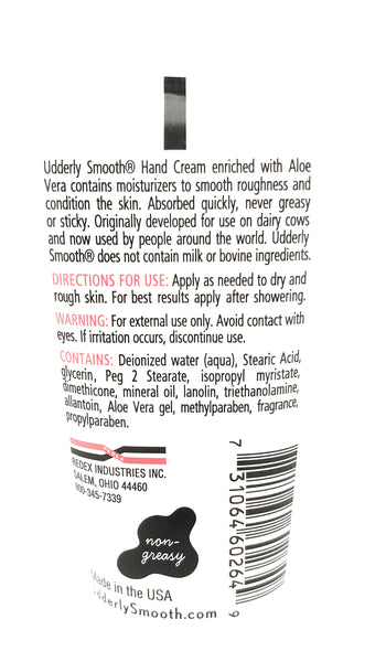 Udderly Smooth Soothing Hand Cream With Aloe Vera, Apple Blossom Scent, 2 oz. Travel Size Lotion - 5 Pack