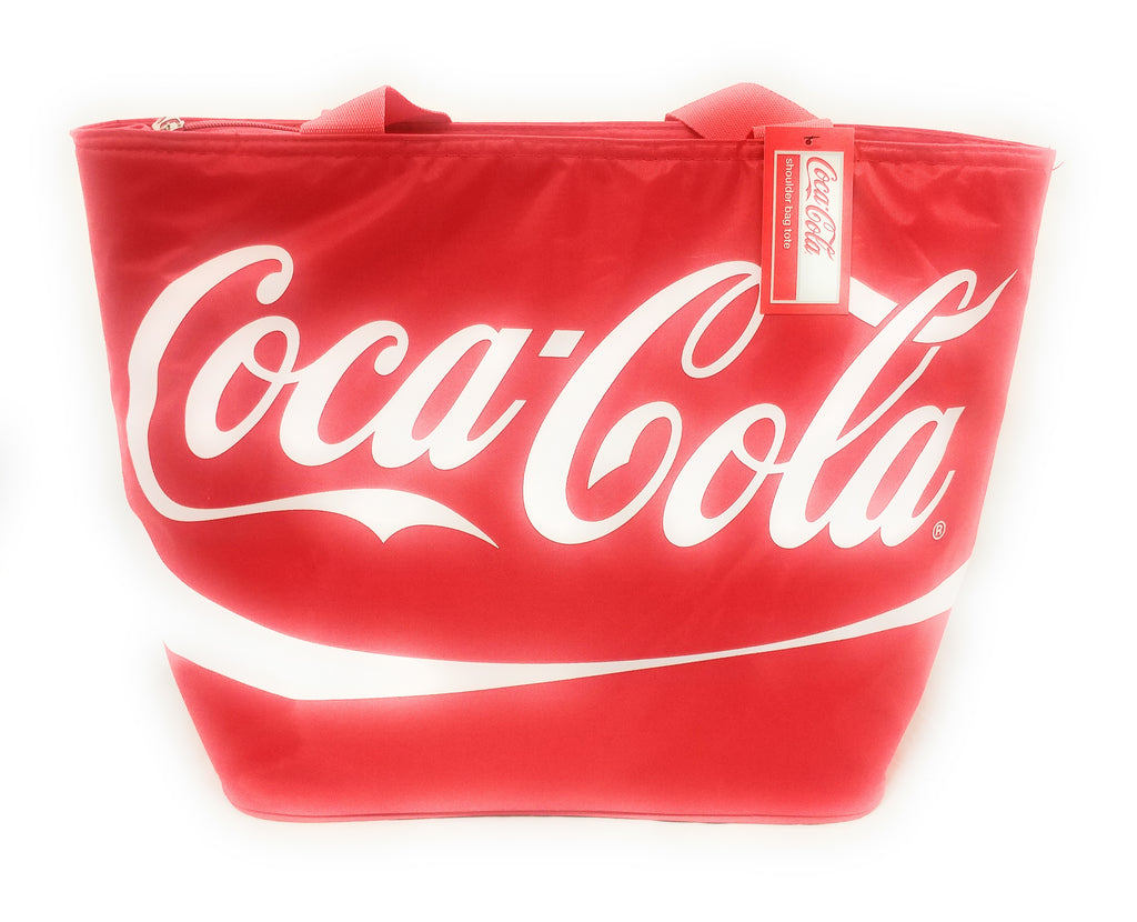 Coca Cola Large Shoulder Tote Cooler Bag with Straps and Official Coke Logo