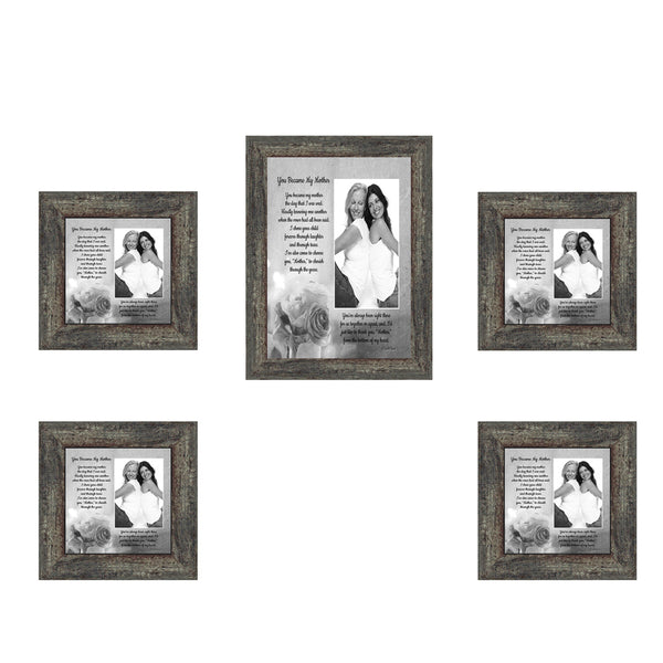 Picture Frame Set, 5 Piece Customizable Multi pack, 1-5x7, 4-4x4, for Instagram Photo Wall Gallery or Tabletop Display