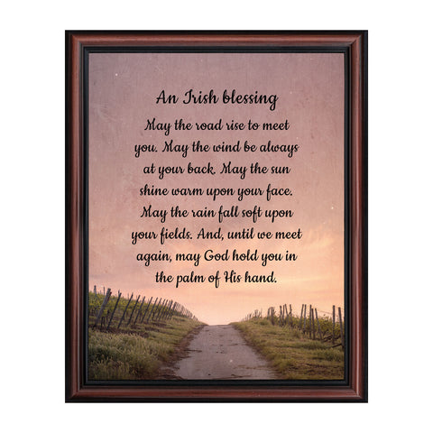 An Irish Blessing, May the Road Rise to Meet You, Celtic Home Blessing Wall Decor,  11x14, 2103
